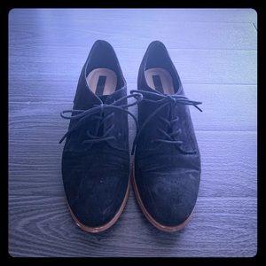 Ladies  Suede black lace up shoes